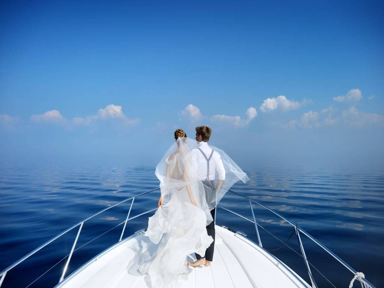Wedding on boat