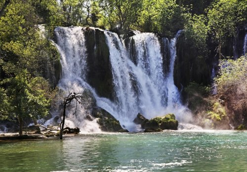 Experience the mesmerizing beauty of Kravice Waterfalls